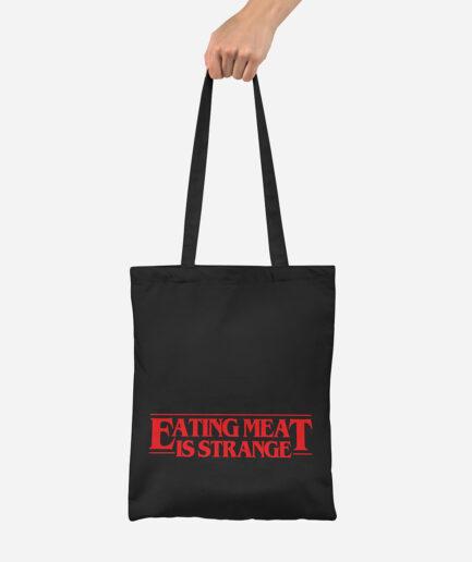 Eating Meat Is Strange Jutebeutel