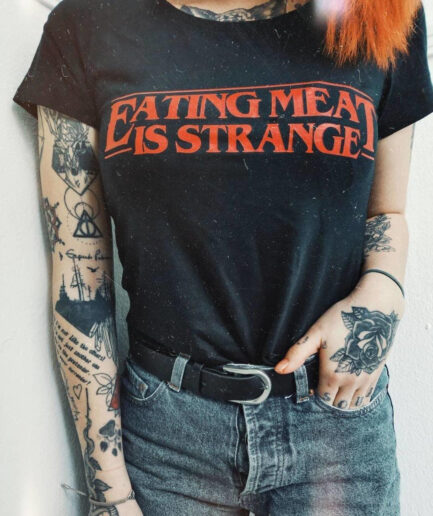 Eating Meat Is Strange Ladies Organic Shirt