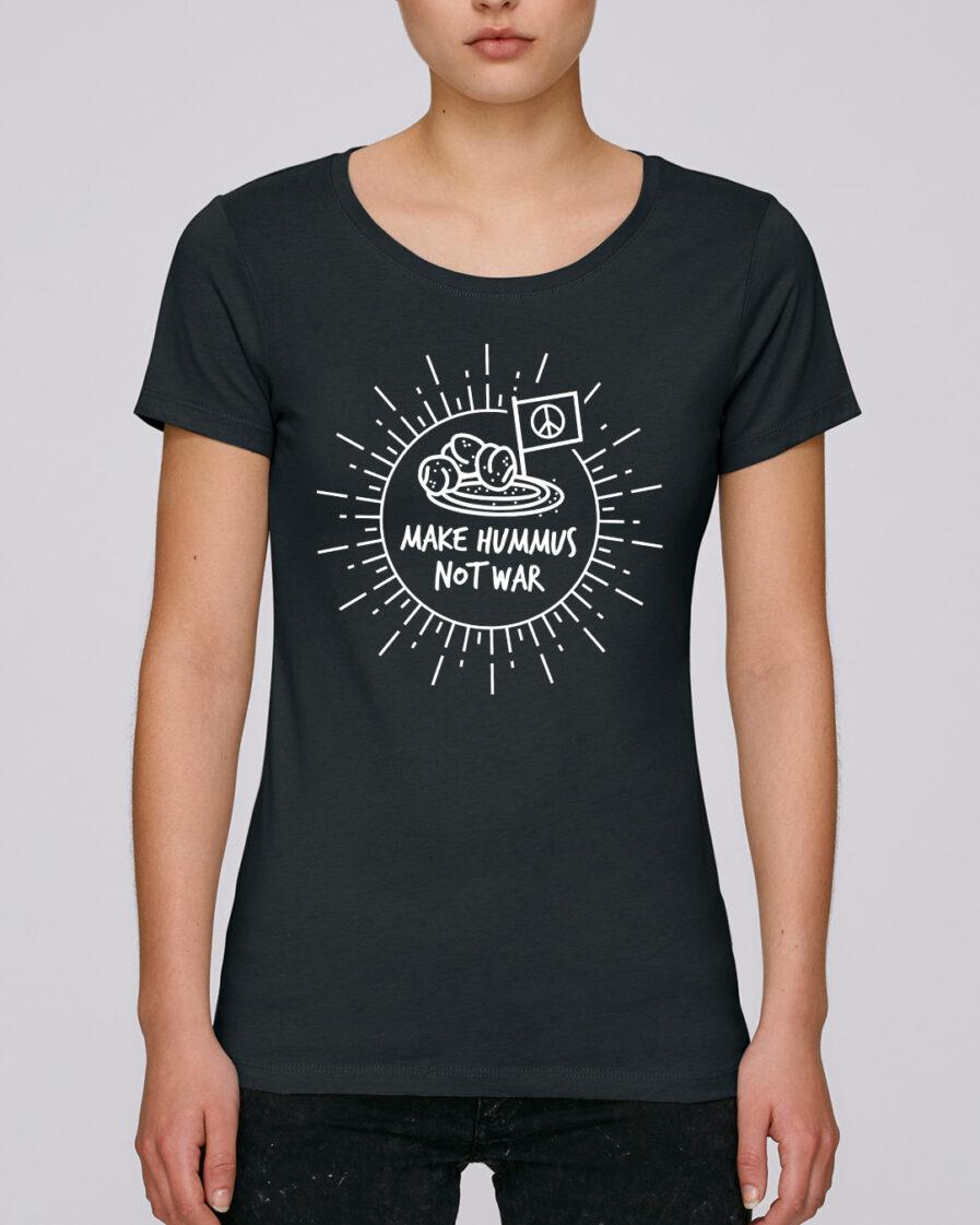 Make Hummus Not War Ladies Organic Shirt