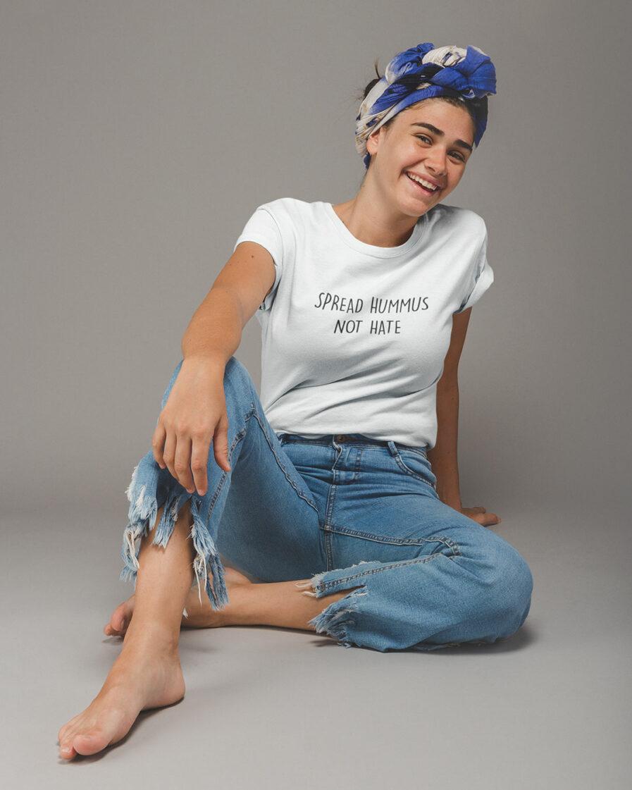 Spread Hummus Not Hate Ladies Organic Shirt für Frauen