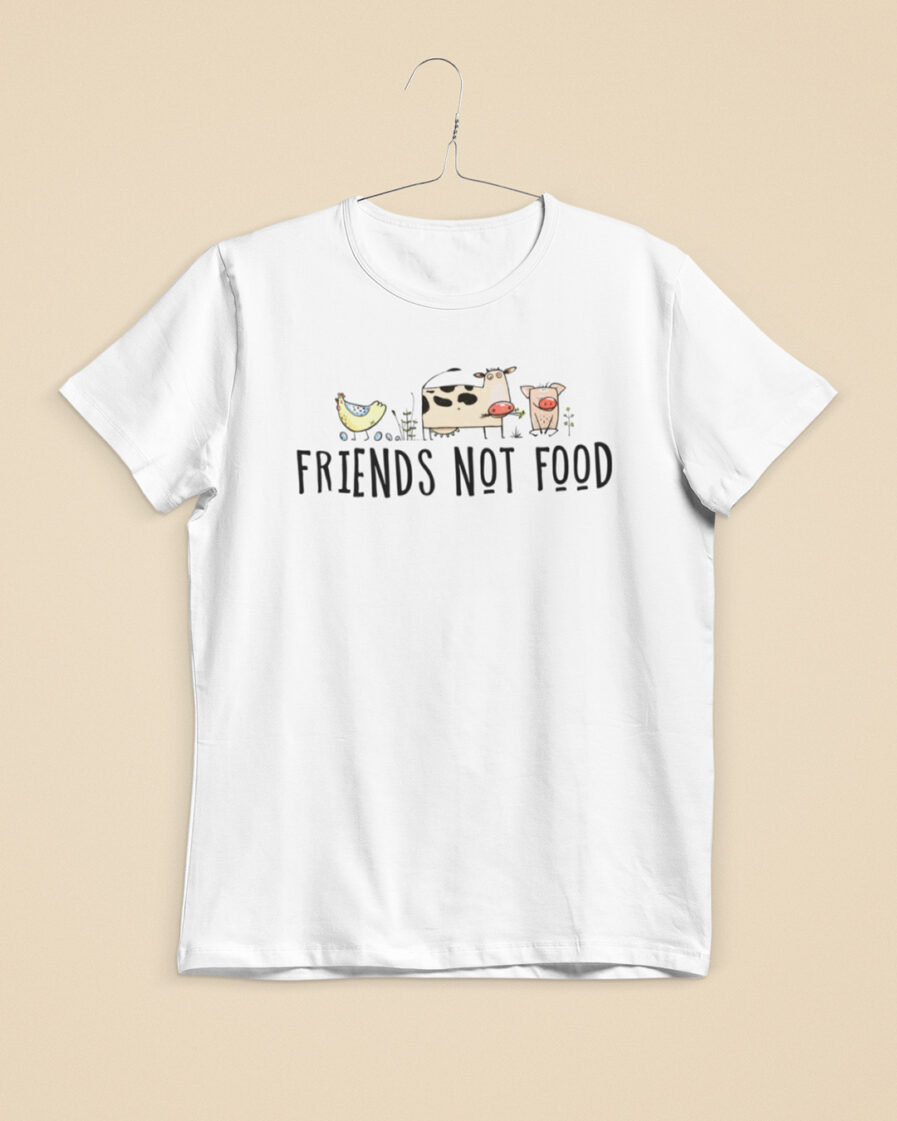 friends not food ladies organic shirt