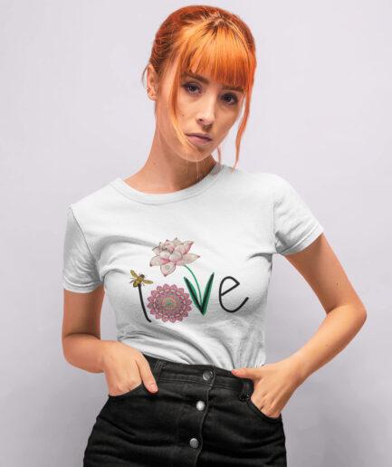 love ladies organic shirt white