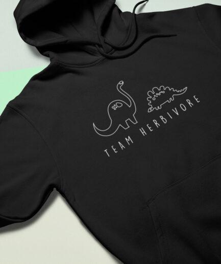 team herbivore organic hoodie black