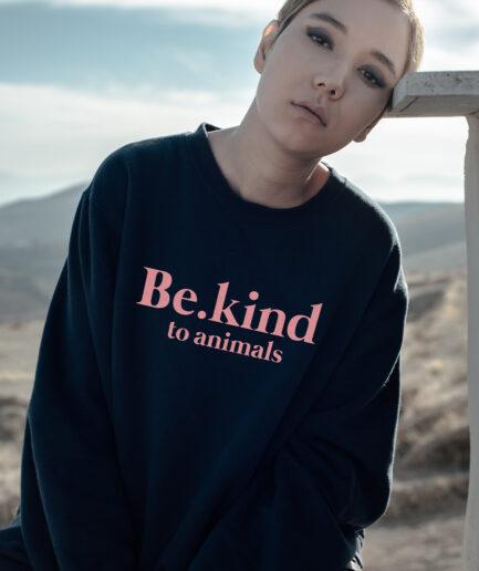 Be.kind to animals Ladies Organic Sweatshirt
