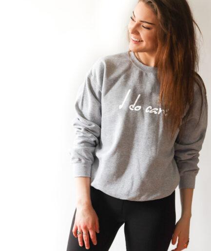 I do care Ladies Organic Sweatshirt