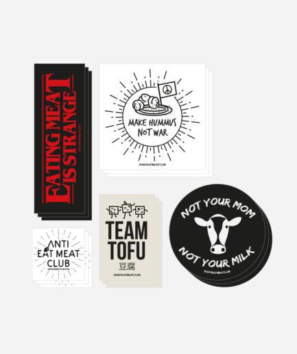Vegan Sticker Aufkleber Set