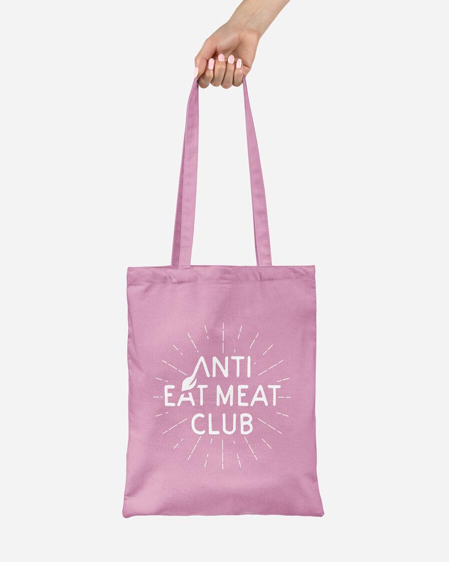 Anti Eat Meat Club Jutebeutel rosa