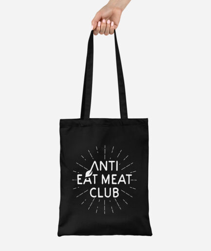 Anti Eat Meat Club Jutebeutel schwarz