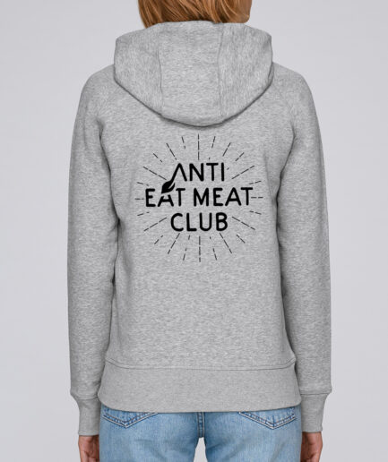 Anti Eat Meat Club Ladies Organic Hoodie