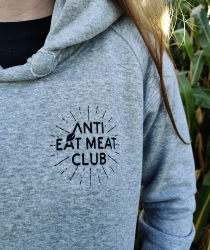anti-eat-meat-club-logo-ladies-organic-hoodie-grau