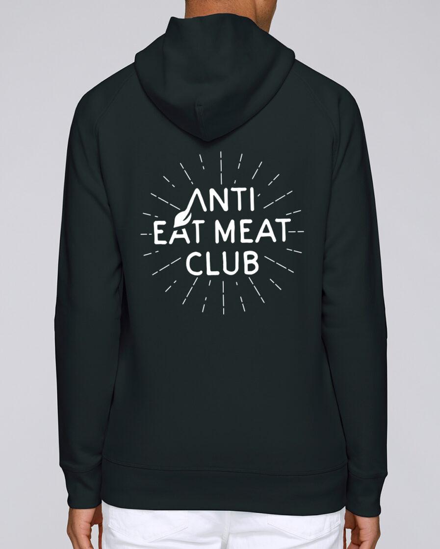 Anti Eat Meat Club Hoodie in schwarz für Männer