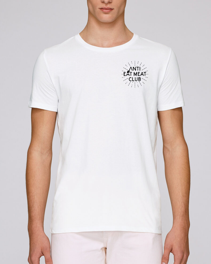 Anti Eat Meat Club T-Shirt in weiss