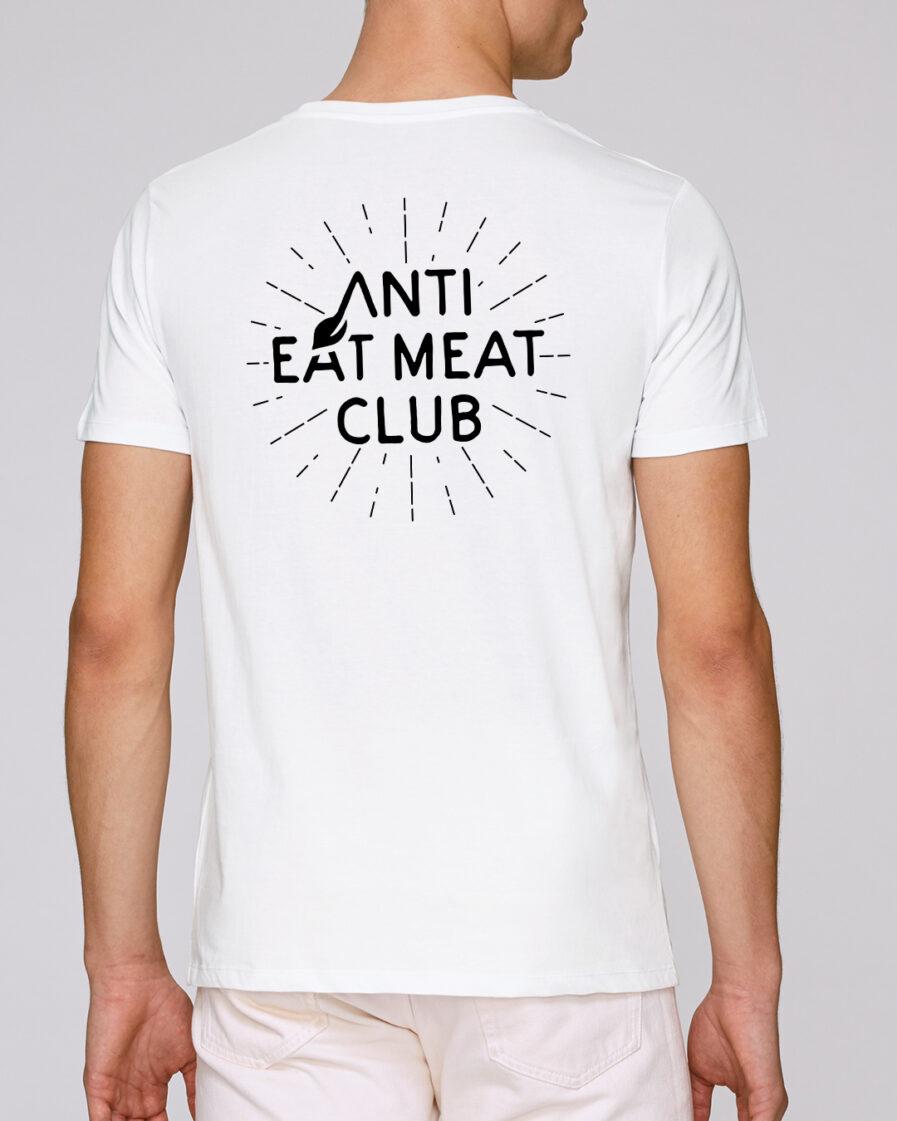 Anti Eat Meat Club T-Shirt in weiss für Männer