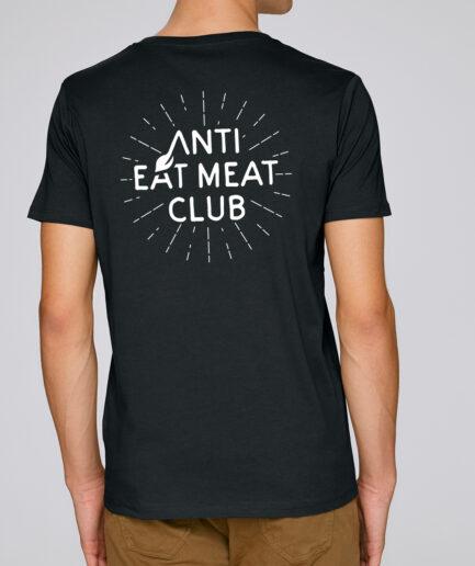 Anti Eat Meat Club T-Shirt in schwarz für Männer