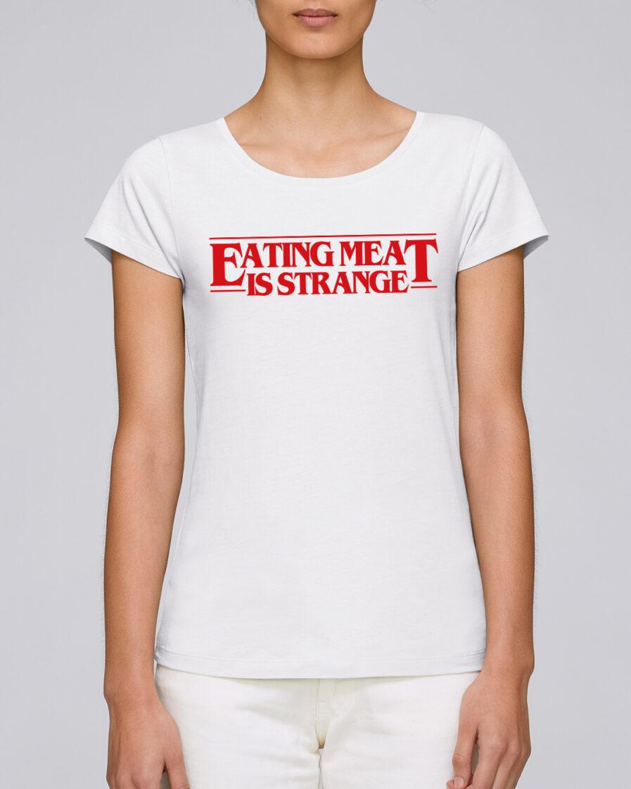 Eating Meat Is Strange Ladies Organic Shirt