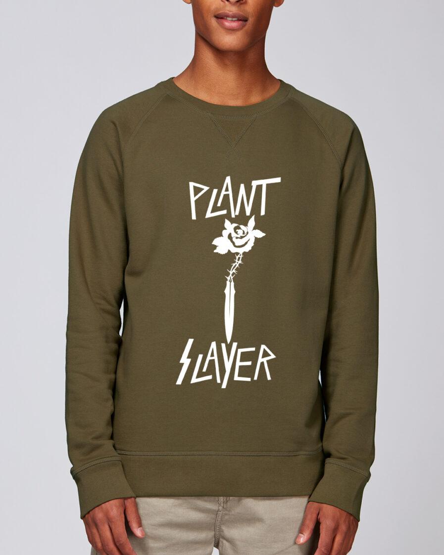 Plant Slayer-Organic Sweatshirt