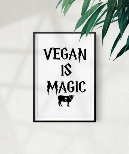 Vegan Is Magic Poster