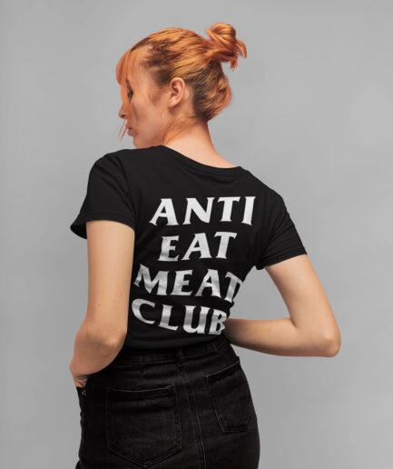 Anti Eat Meat Club Ladies Organic Shirt