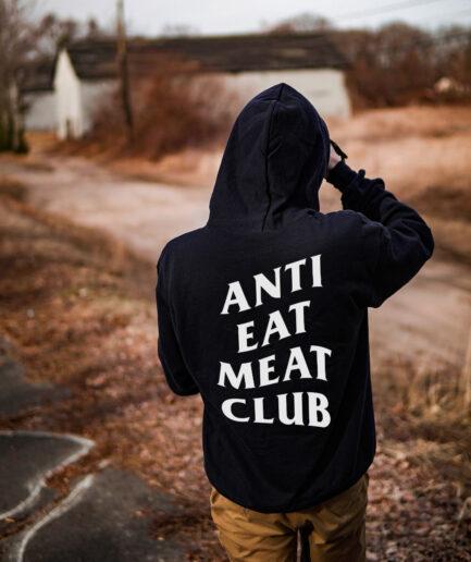 Anti Eat Meat Club Organic Hooded Sweat