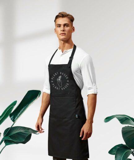 Plant Based Fair Trade Kochschürze mit Tasche