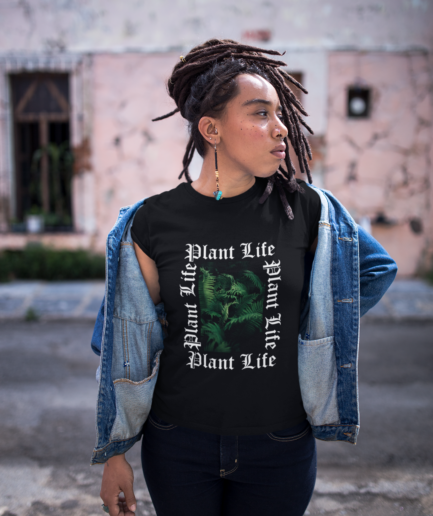 plant life ladies organic t-shirt