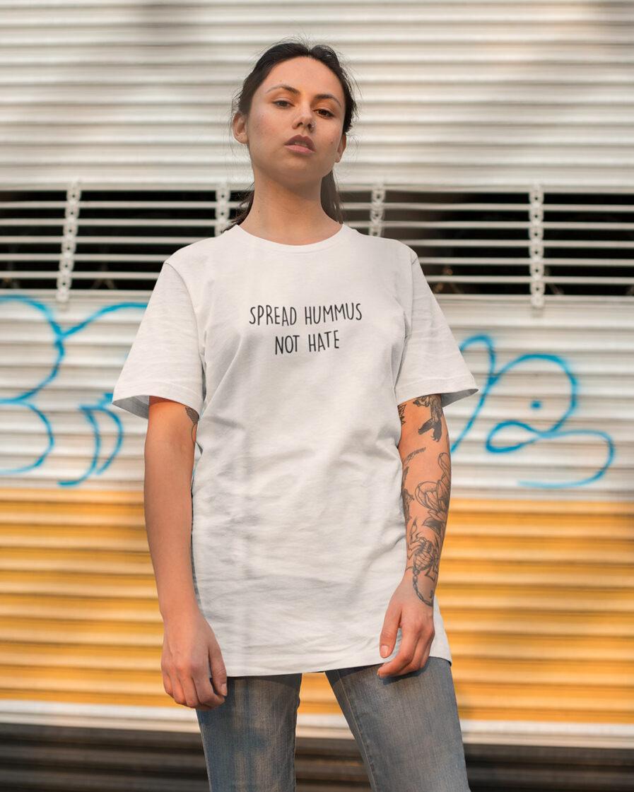 Spread Hummus Not Hate Organic Shirt