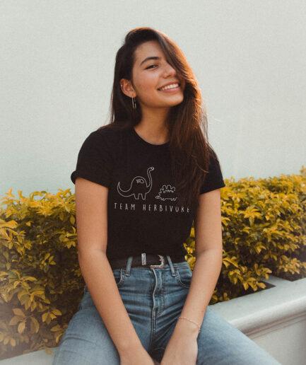 Team Herbivore Tailliertes Organic Shirt