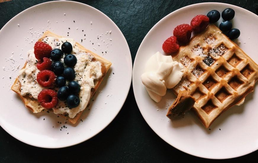 vegane Frühstückswaffeln