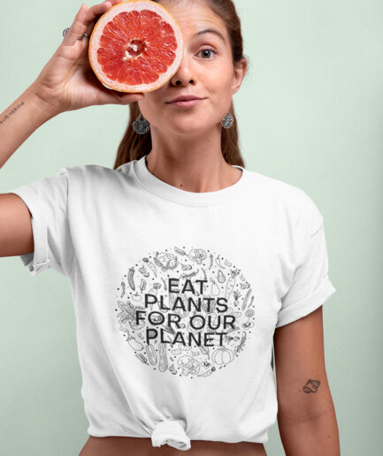 Eat Plants For Our Planet Ladies Organic Shirt