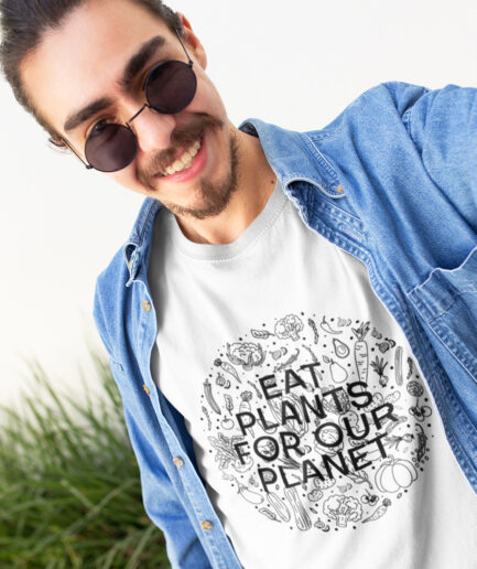 eat plants for our planet organic shirt