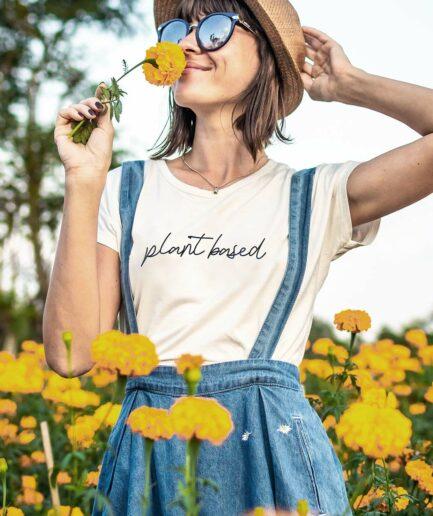 Plant based tailliertes organic Shirt