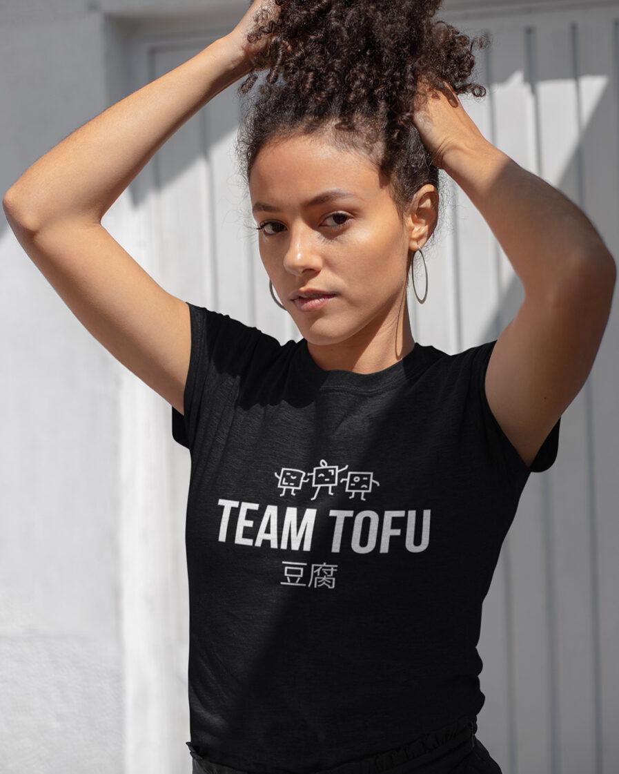 team tofu ladies organic shirt black