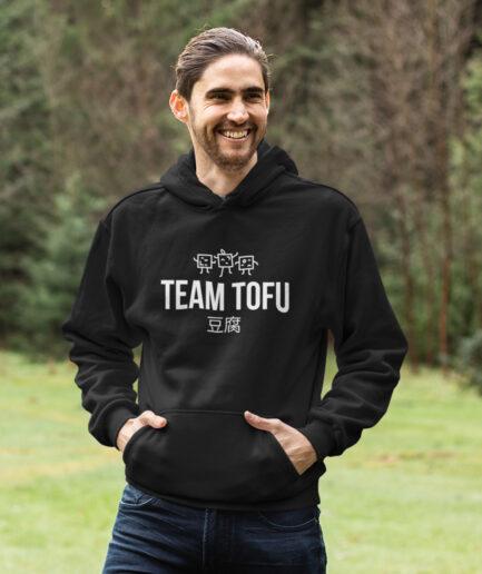 team tofu organic hoodie unisex black