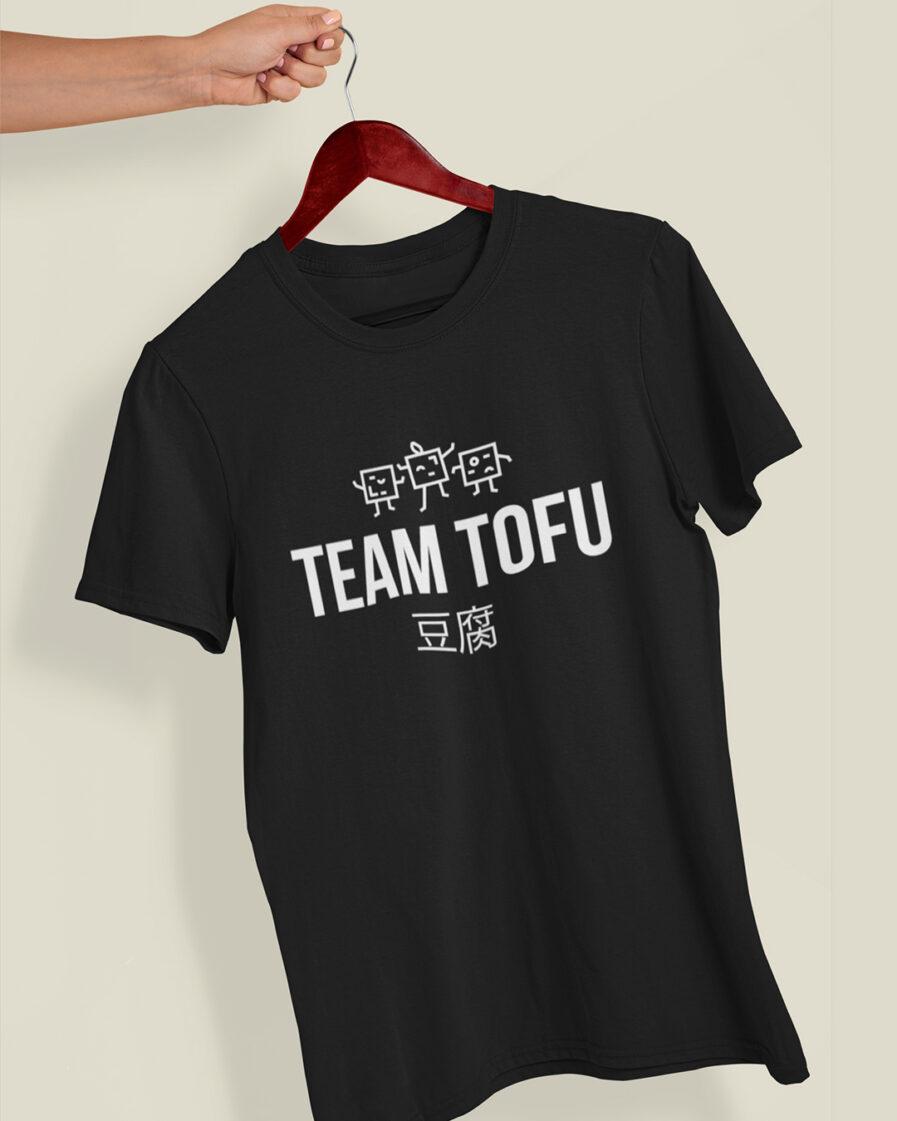 team tofu organic shirt black