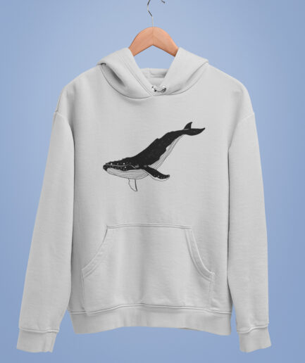 wal liebe organic hoodie unisex grey