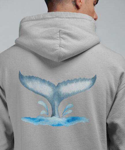 walflosse unisex organic hoodie grau