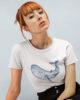 whale ladies organic shirt white