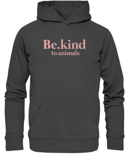 Be.kind-to-animals-Organic-hoodie-Anthracite