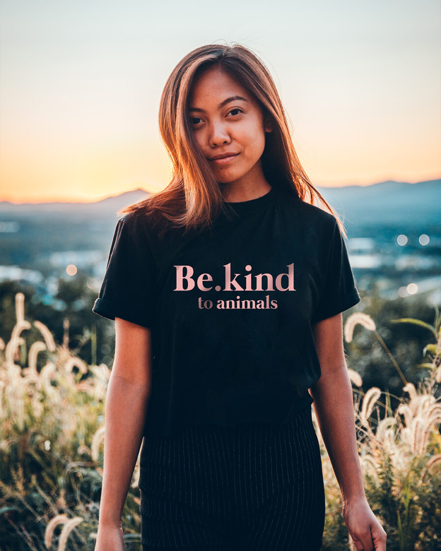 Be.kind to animals Ladies Organic Shirt