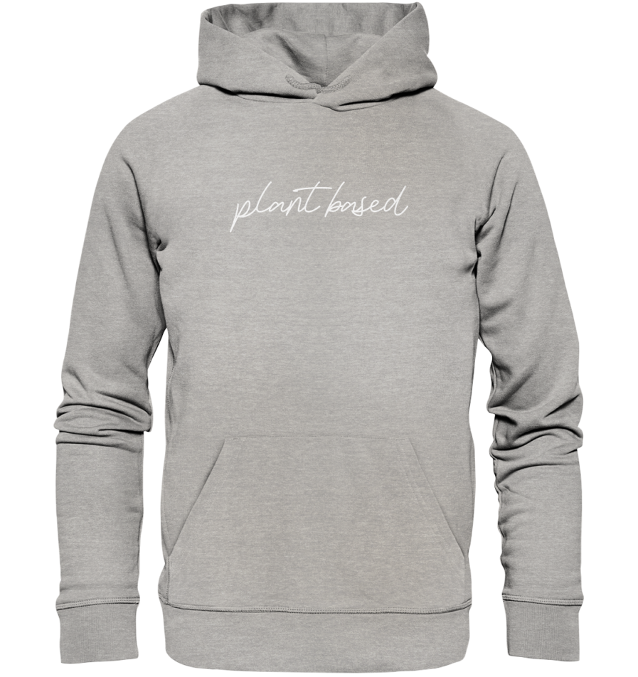 plant based-organic-hoodie-heather-grey vegan