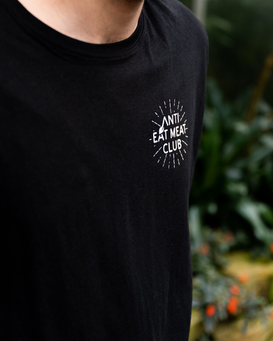Anti Eat Meat Club Logo Organic schwarz