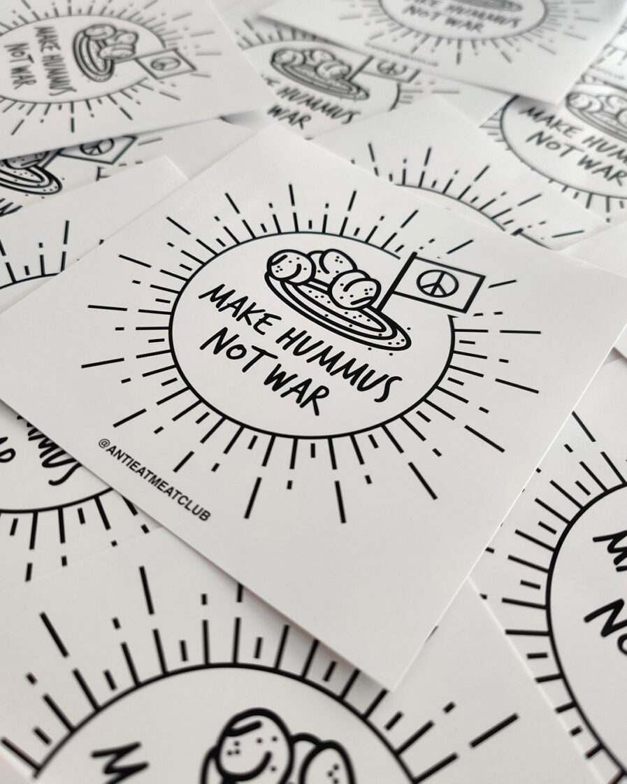 Make Hummus Not War Sticker