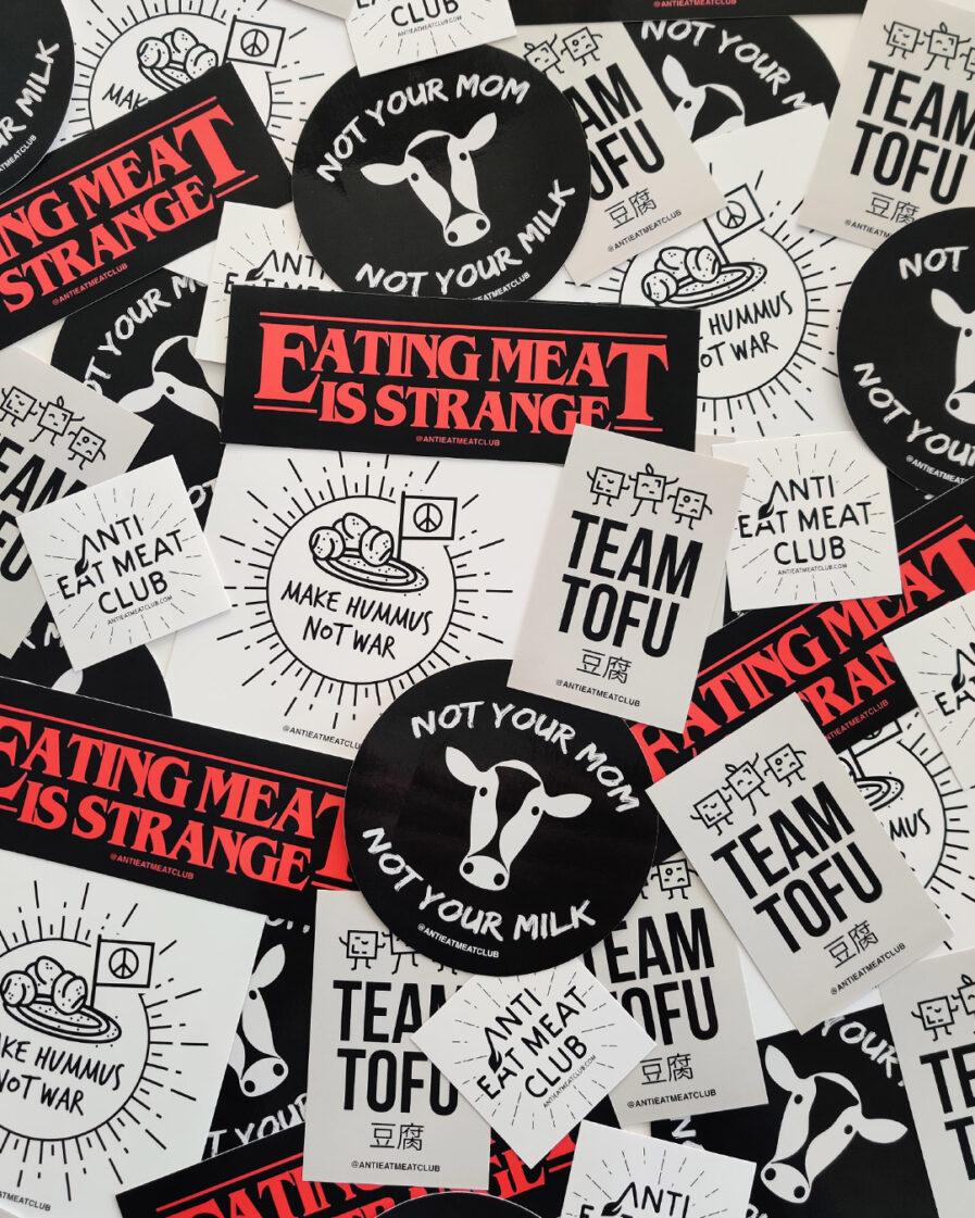 Vegan Sticker Set Übersicht