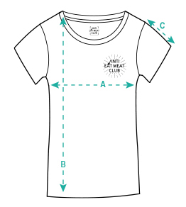 Größentabelle Ladies Organic T-Shirt