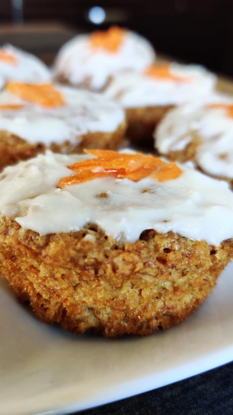 vegane Karotten Muffins