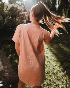 Vegane Bio T-Shirt-Kleider
