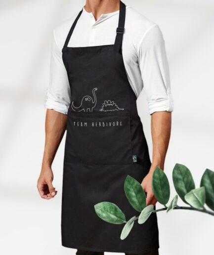 Team Herbivore Fair Trade Kochschürze mit Tasche