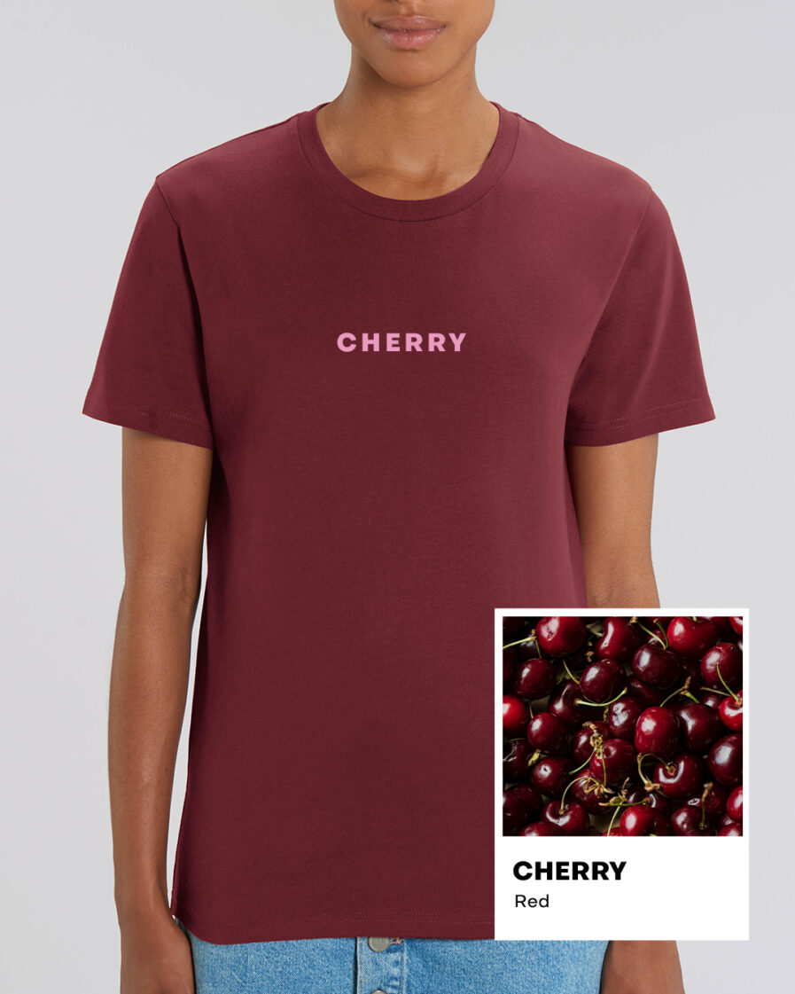 Cherry Red Essential Organic Unisex Shirt
