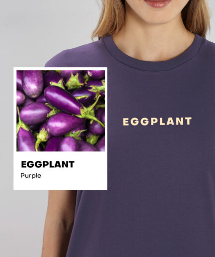 Eggplant Purple Basic Organic Unisex Shirt