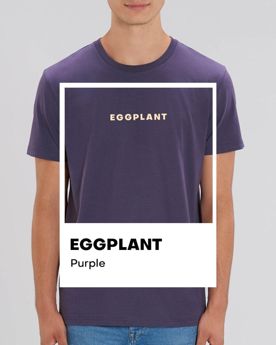 Eggplant Purple Basic Organic Unisex Shirt